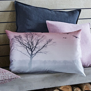 < 30%특가 >LATER Cushion Cover- Grey & Rose