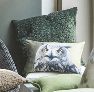 1.Hedwig cushion cover - green (30x50cm)