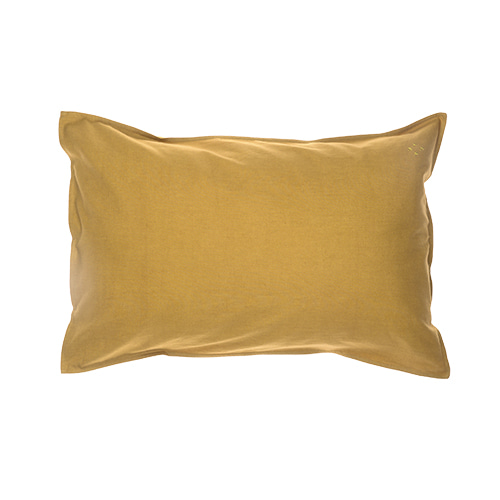 Solid pillow cover - golden (50x75cm)