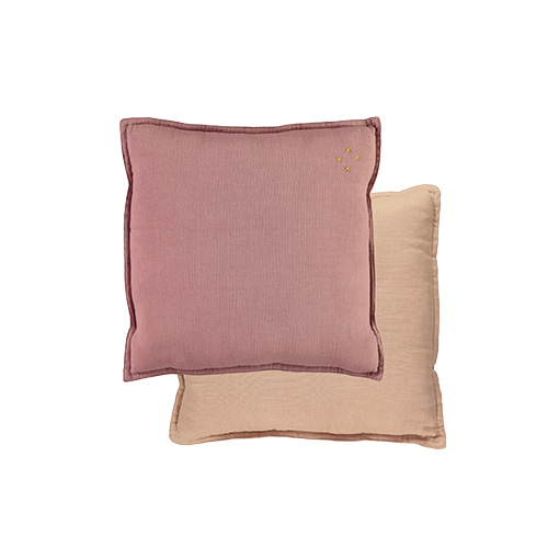 Square cushion - blush & peach blossom (30x30cm)