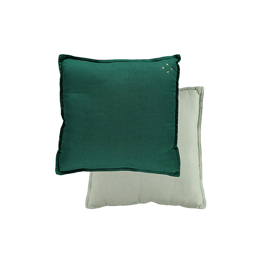 Square cushion - forest & mint (30x30cm)