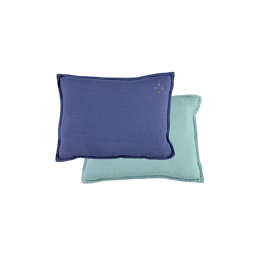 Square cushion - royal blue & light teal (22x30cm)
