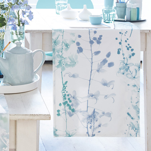 Botany table runner - blau & ciel (50x170cm)