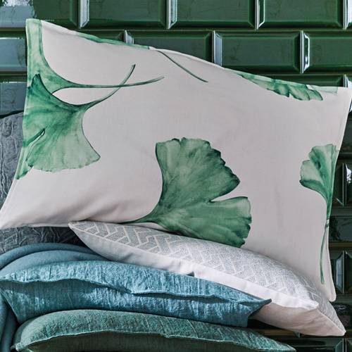 Ginkgo cushion cover - verde (50x50cm)