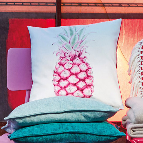 Pineapple cushion cover - pink (40x40cm)