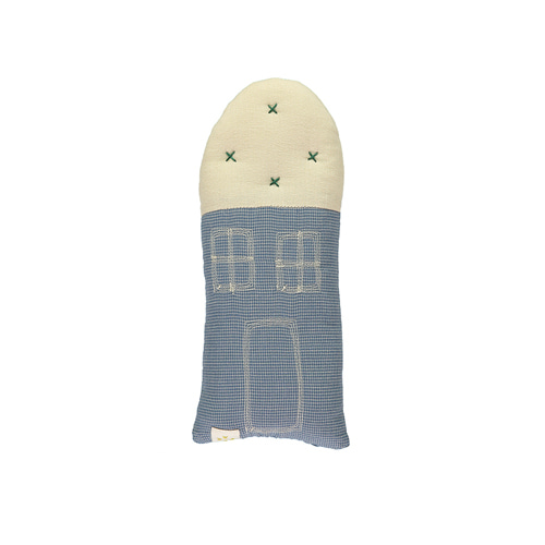 House Petit cushion - mini check blue (11x26cm)