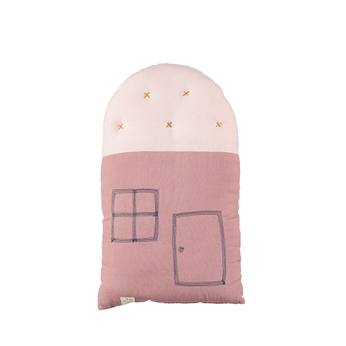 House Small cushion - blush & pearl pink (24x38cm)