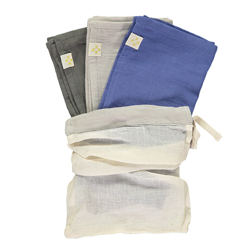 Multi Pack towel - royal blue & ash grey & slate (56x56cm)