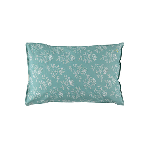 Hanako Floral pillow cover - light teal (40x60cm)