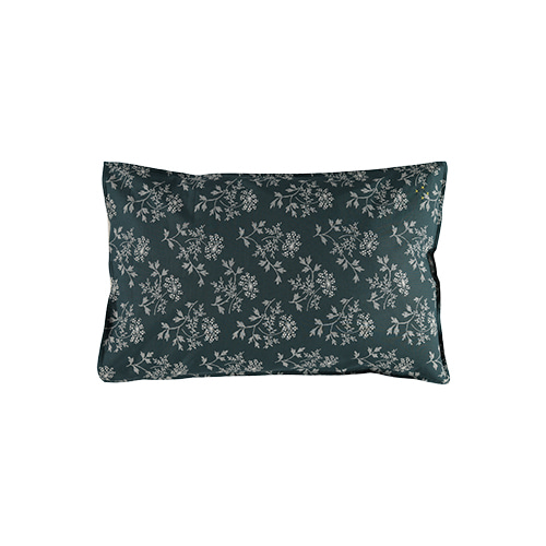 Hanako Floral pillow cover - thunder blue (40x60cm)