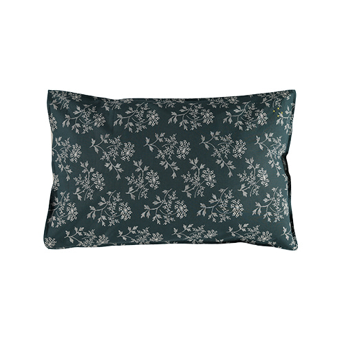 Hanako Floral pillow cover - thunder blue (50x75cm)