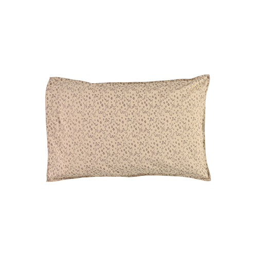 Floral Stream pillow cover - natural & mink (40x60cm)