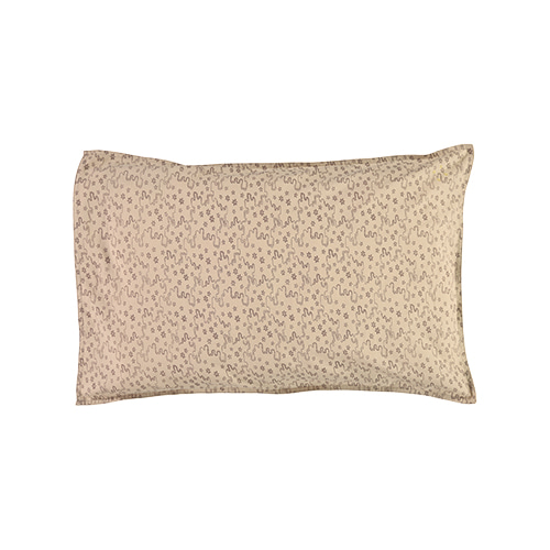 Floral Stream pillow cover - natural & mink (50x75cm)