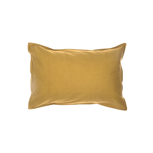 Solid pillow cover - golden (40x60cm)