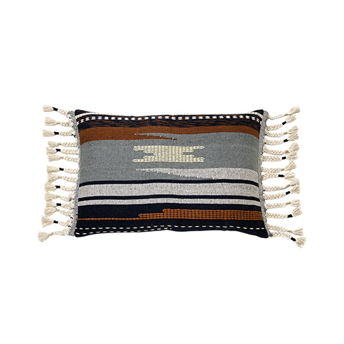 Aztec with tassels cushion cover - multi color (50x70cm)