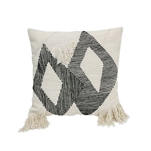 Triangle cushion cover - black & white (50x50cm) 속솜포함 제품
