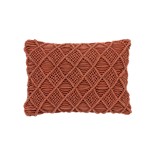 Macramé cushion cover - red (40x60cm) 속솜포함 제품
