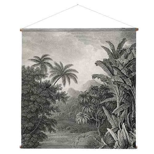 Jungle wall deco - printed (154x154cm)