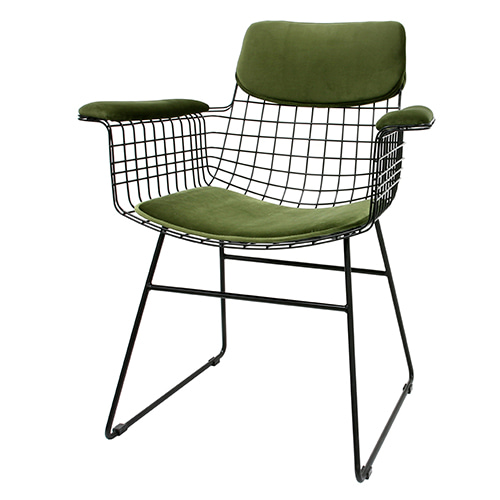 Brass Metal Wire with Arms chair (72x56x86cm)