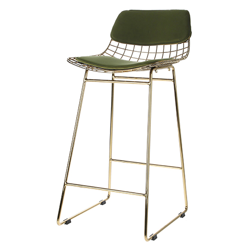 Brass Metal Wire stool (47x47x89cm)