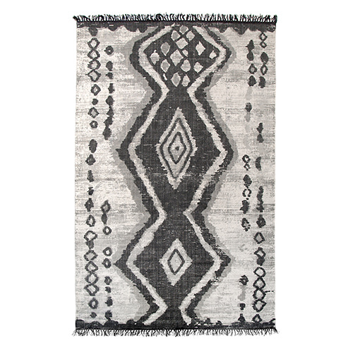 Printed Boucherouite rug - multi color (180x280cm)