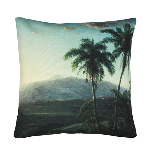 Palm Landscape cushion cover - printed (45x45cm) 속솜포함 제품