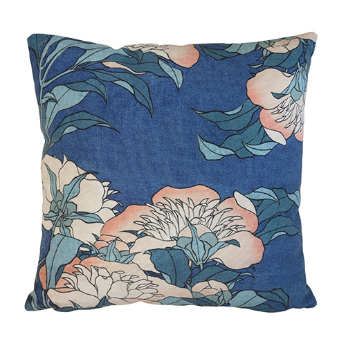 Japanese Floral cushion cover - blue (45x45cm) 속솜포함 제품