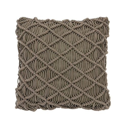 Macramé cushion cover - green (50x50cm) 속솜포함 제품