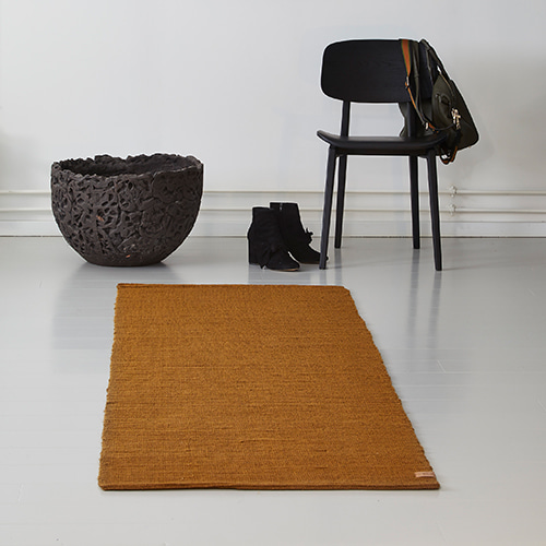 Ribbon Jute Rug - Dried tabacco