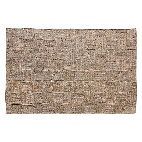 Patched Jute rug - natural (180x280cm)