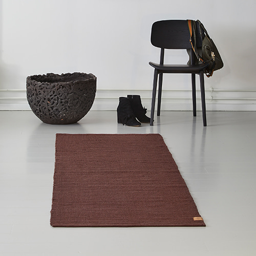 Ribbon Jute Rug - Wine